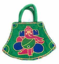 Embroidery Potli Velvet Bag