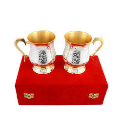 Silver & Gold Plated Coffee Mug Set