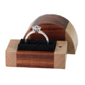 Wgc Matt /brown/gloss. Wooden Wedding Ring Box