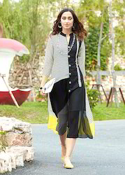 Georgette Black and White Kurti