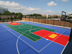 Synthetic Flooring Basketball Court