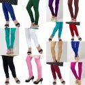 Mid Waist Cotton Lycra Leggings, Casual Wear, Slim Fit