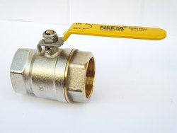Silver Gold Finish Brass Forged Ball Valve