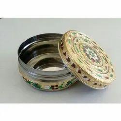 Decorative Steel Dabba
