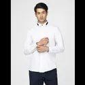 Green Hill Men's Designer White Solid Shirt