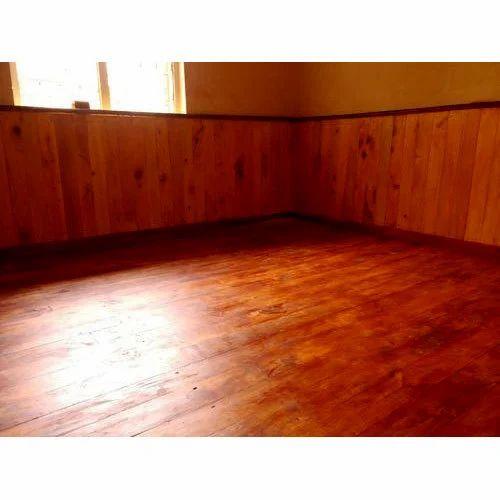 Brown Wooden Floor Paneling Rs 55 Square Feet Rahim Saw Mills
