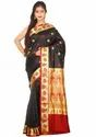 Banarasi Handloom Silk Saree ( Pm2701, Black )