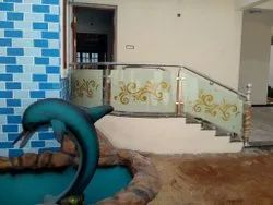 Painted Glass Handrails