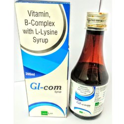 Vitamin B Complex with L-Lysine Syrup, Packaging Type: Bottle