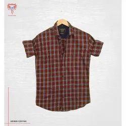 United 18 Cotton Men Check Shirts, Handwash