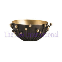 Decorative metal Iron Bowl with stand