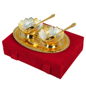 Flower Brass Bowl Set