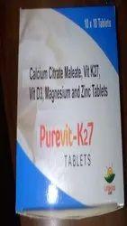 Purevit-K27 Calcium Citrate Maleate, Vit K27, Vit D3, Magnesium and Zinc Tablets