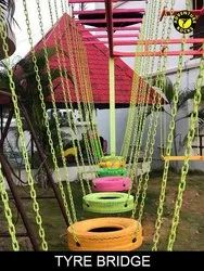 Tyre Bridge For Kids Material Iron & Rubber ( Rope Course Element)