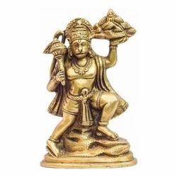 Golden Brass Hanuman Statue