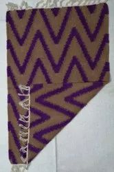 Handwoven Pinl Cotton rug, Size: 2x3 And 5x7 Available