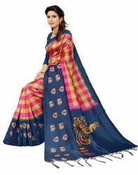 Ligalz Presents Art Silk Saree With Blouse