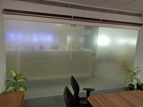Transparent Frosted Glass Office Partition