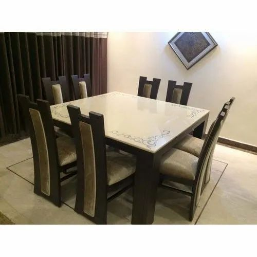 Ambika Brown 8 Seater Wooden Dining Table Set Rs 45000 Set Ambika Traders Id 21718906512