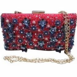 Ladies Hand Embroidered Embellished Clutch