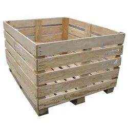 Wood Rectangular Rubber Wooden Packaging Crate, Capacity: 1000 - 1500 Kg, Size: 1 - 3 Feet (height)