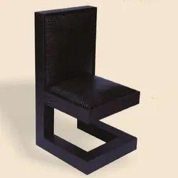 Dark Brown Wooden EC-217 Croco Leather Chair, 45x60x90 Cms