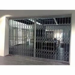 Sliding Mild Steel Collapsible Gate, for Industrial