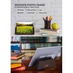 Wooden Photo Frame with Bluetooth Speaker & Mobile or Tablet Stand