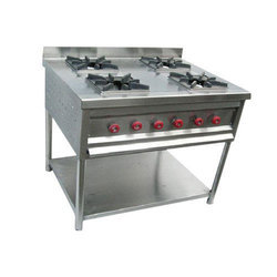 Four Burner SS Cooking Range