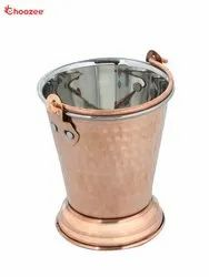 Stainless Steel Copper Serving Bucket (380 Ml)