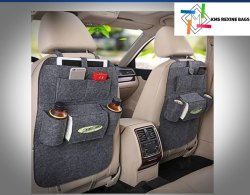 Kms Black Leather Car Seat Cover