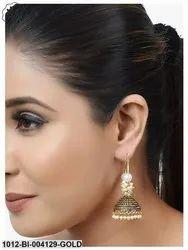 Gold Plated Pearl Jhumki/Earrings
