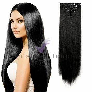 Black Human Hair Ear To Ear Hair Extension For Female f5fcbdec0b