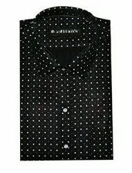 Male Black Dooted Aliean's printed shirt
