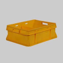 Yellow Milk Pouch Crate