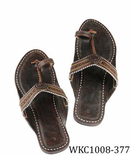 c89feeff2 Ekolhapuri Dark Brown Color Authentic Handmade Genuine Leather ...