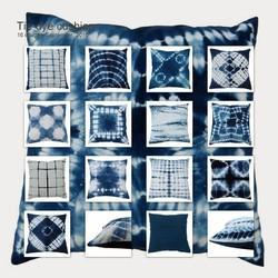 Shibori Print Cushion Cover