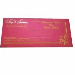Paper Matte Wedding Card