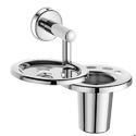Urban Stainless Steel Soap Dish With Toothbrush Holder