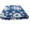 Flower Print Indigo Fabric
