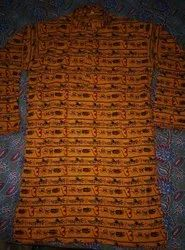 Knee Long Cotton Om Printed Men S Fashion Kurta
