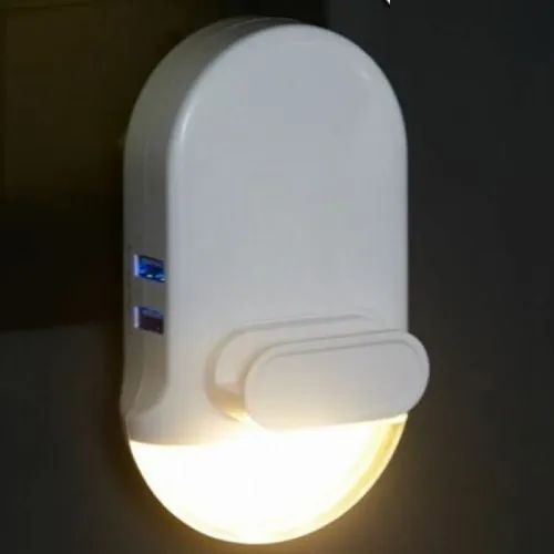 Wall Mounted Cool White 3 In 1 Mobile Holder With Night Light And Usb Charger For Multi Purpose Id 22458009355