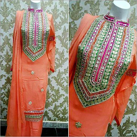 Reshma Print Party wear Ladies Gotta Patti Salwar Suit