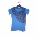 Ladies Blue Hosiery T Shirt