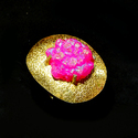 Fashion New Model Women Gold Electroplated Gemstone Ring