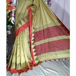 Ladies Traditional Handloom Saree, Length: 6.25 meter