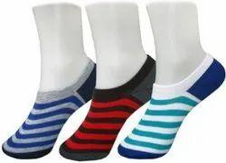 Black Men Cotton Low Ankle Socks, Size: Free