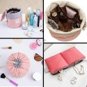 Barrel Shaped Cosmetic Bags