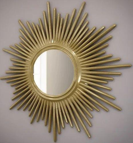 Golden Sunburst Mirror Packaging Type, Round Sunburst Mirror