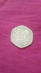 1983 The Year 20 Paise Coin